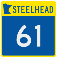 HWY 61 steelhead sticker